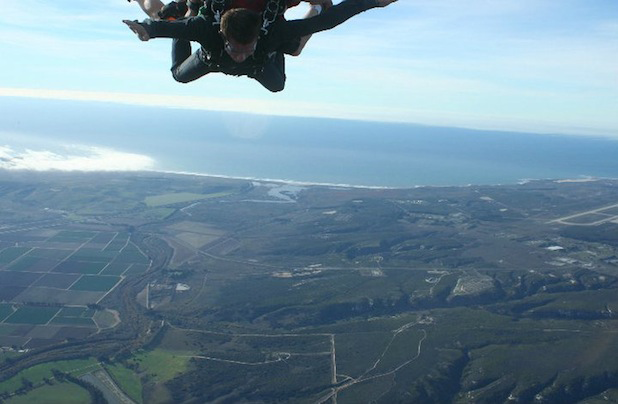 Evan skydiving in Lompoc California.  Circa 2011.