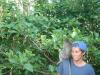 Evan with monkey in Ubud, Bali