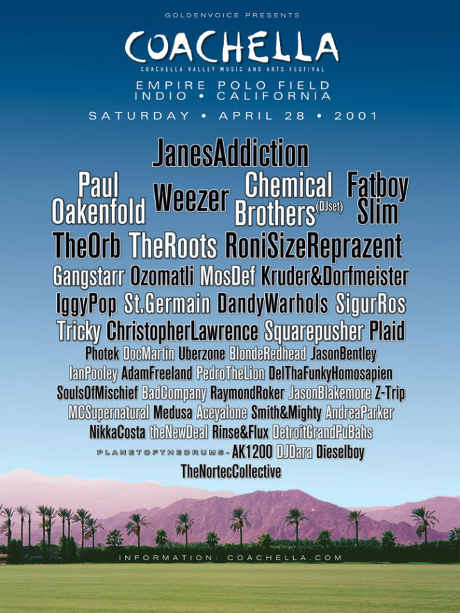 Coachella 2001 Poster
