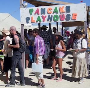 Burning Man Theme Camp Pancake Playhouse