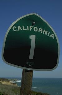 California Highway 1 sign