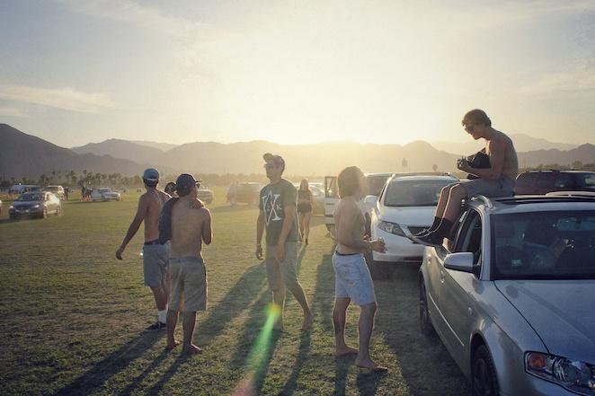 Coachella 2013 car camping line