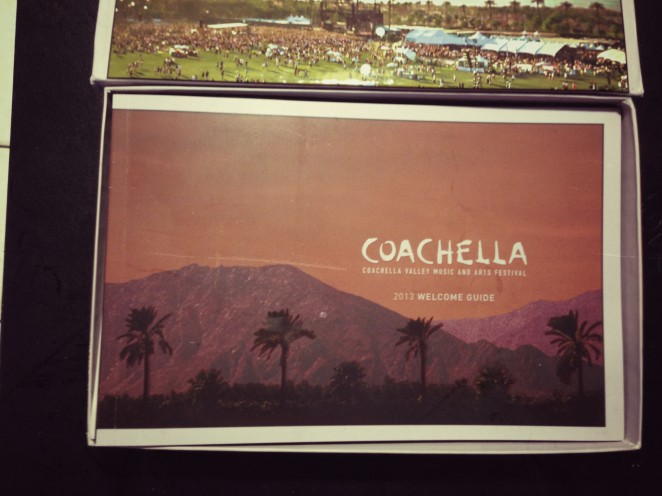 Coachella 2013 ticket box welcome guide