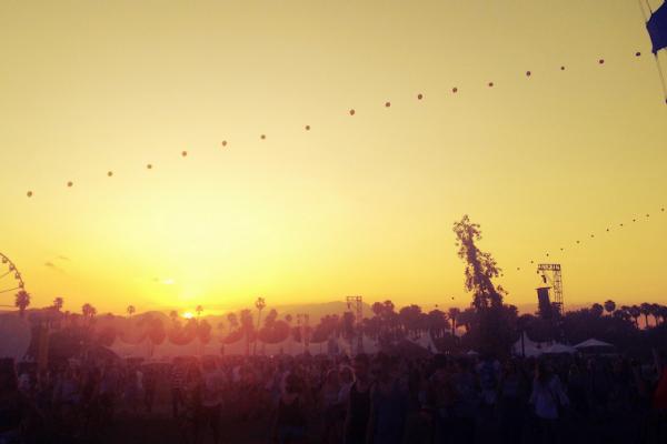 Coachella 2014 sunset