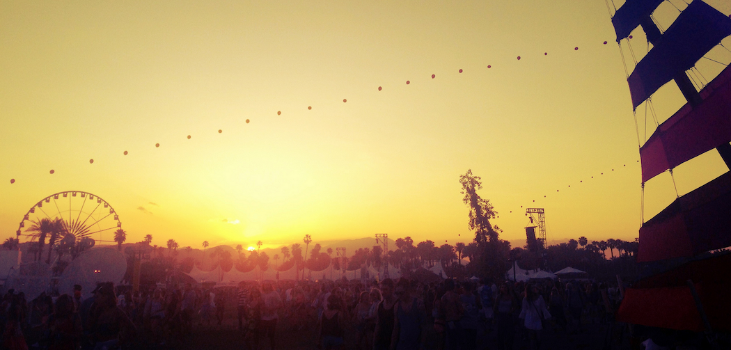 Coachella 2014 sunset