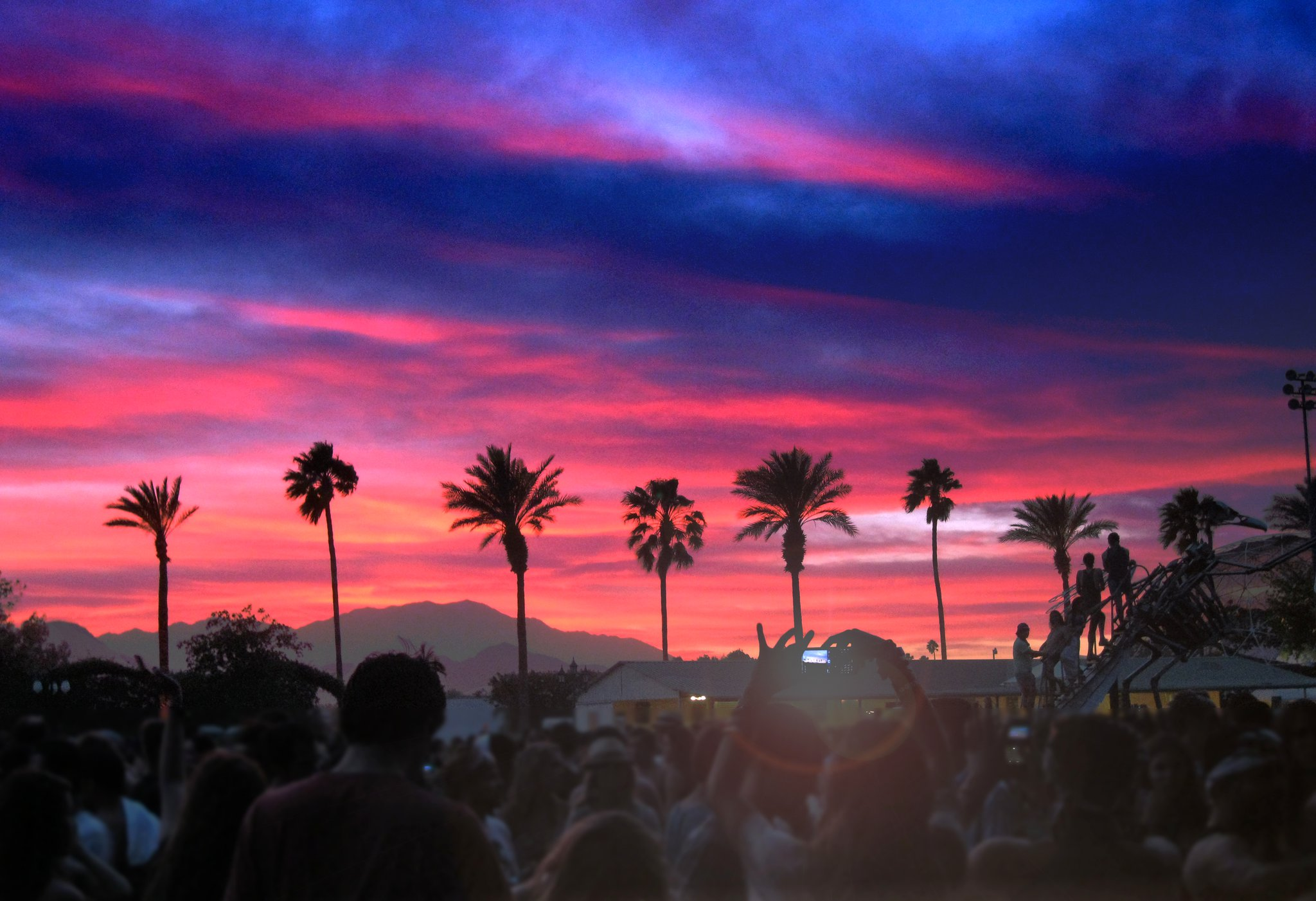 Coachella Sahara Tent Sunset