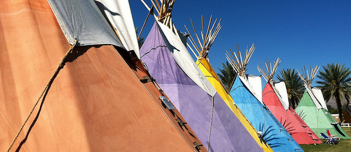 Coachella camping teepee