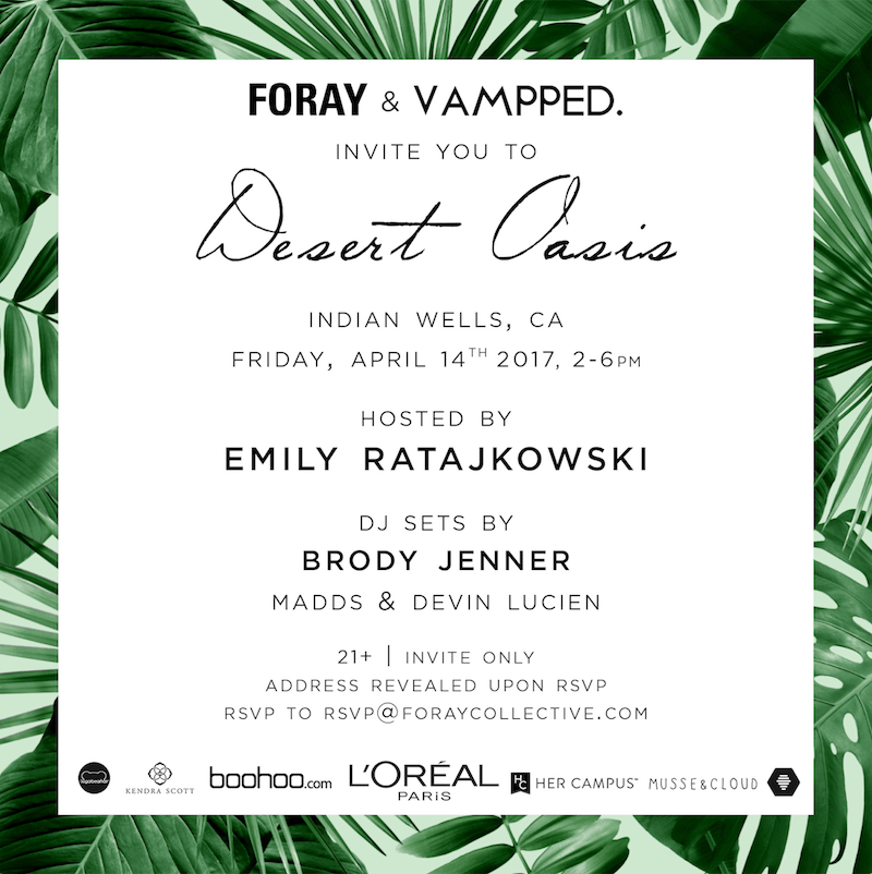 emily ratajkowski private event foray desert oasis and brody jenner