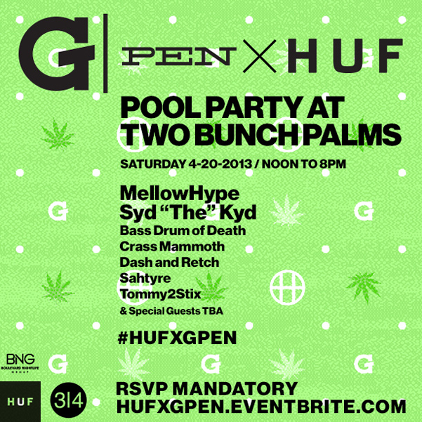 Gpen + Huf Coachella 2013 Pool Party