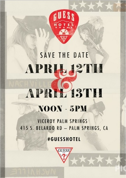 Guess Hotel coachella party viceroy hotel