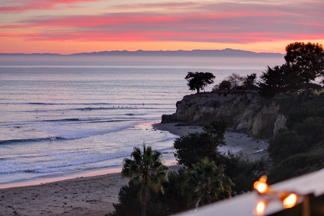Leadbetter Point sunset Santa Barbara