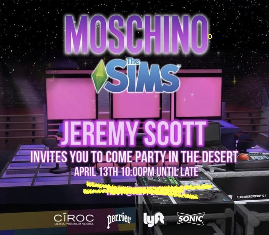 Moschino Sims Coachella 2019