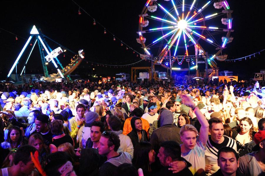 ferris wheel at neon carnival in Thermal California
