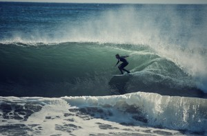 A perfect, barreling waves reels through El Capitan in Santa BArbara