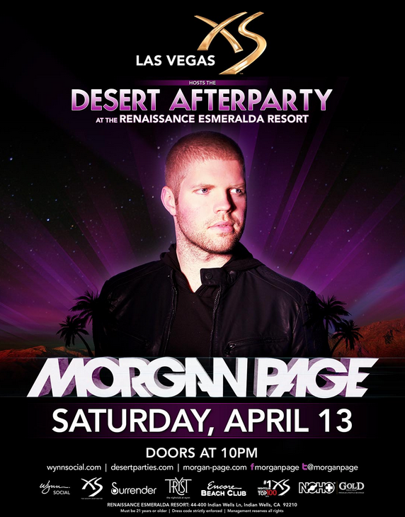 Morgan Page Coachella after party 2013