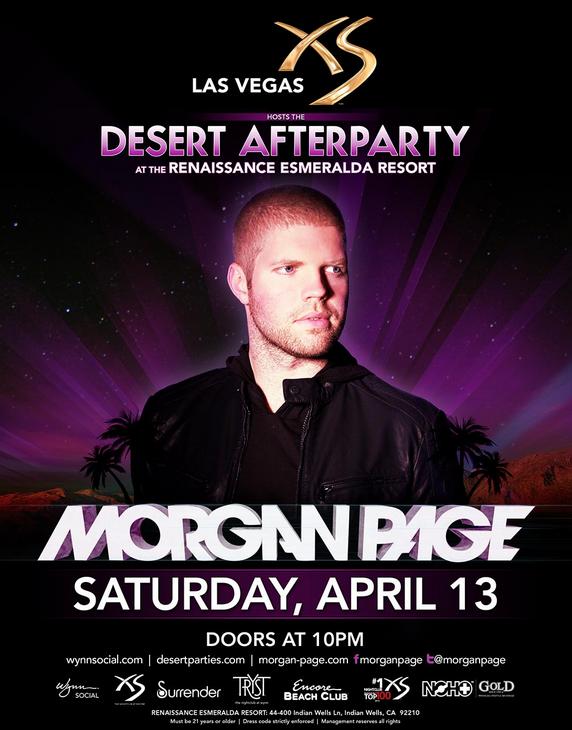 Morgan Page Coachella after party 2013