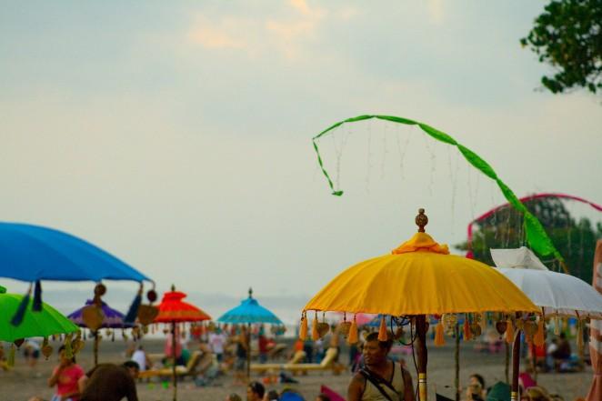 bali umbrellas kuta beach