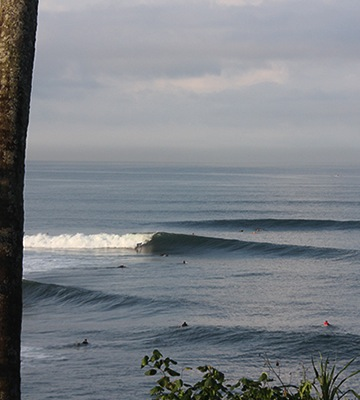 balian surfing waves bali