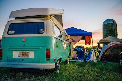 camping at Bonnaroo