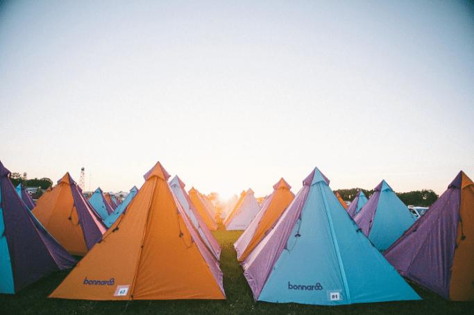 tent camping at Bonnaroo
