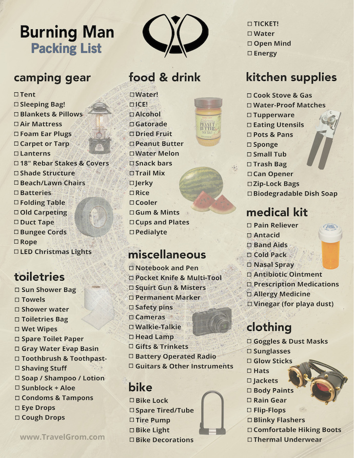 Music Festival Camping Food List