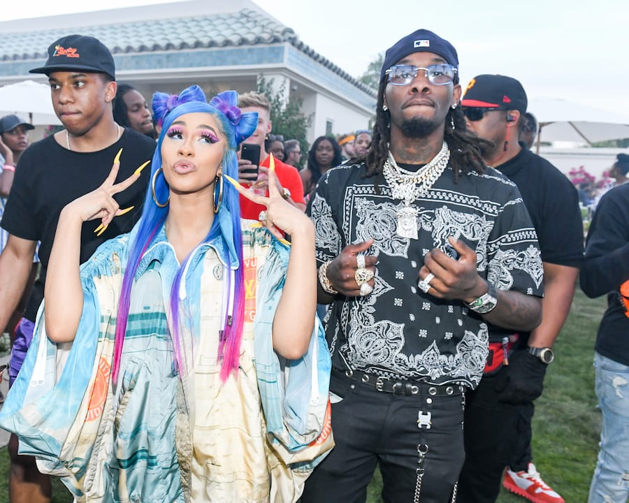 cardi b and offset at Revolve festival