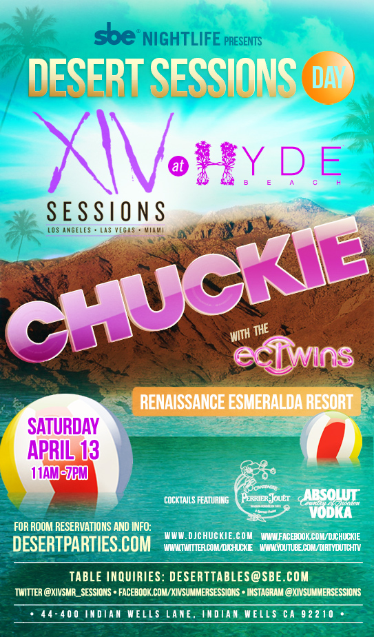 chuckie pool party coachella 2013
