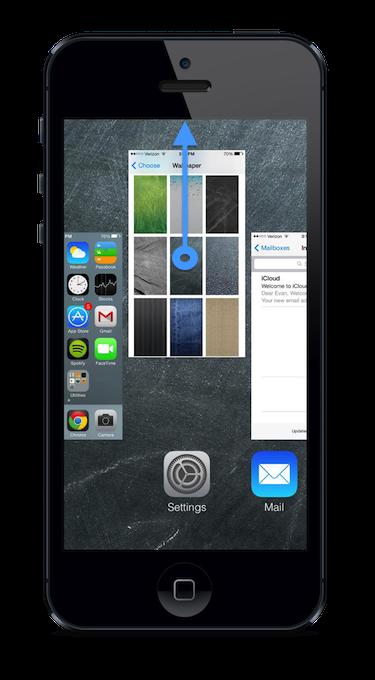 close iphone apps ios7