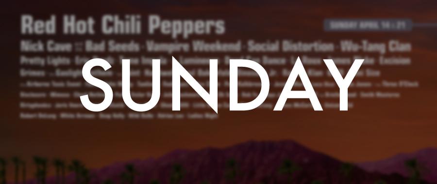 Coachella 2013 Sunday Lineup Poster Thumbnal