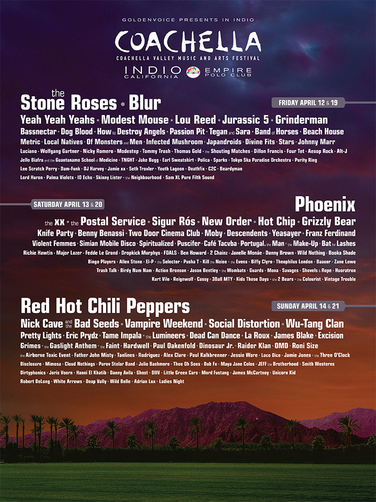 The 2013 Coachella poster