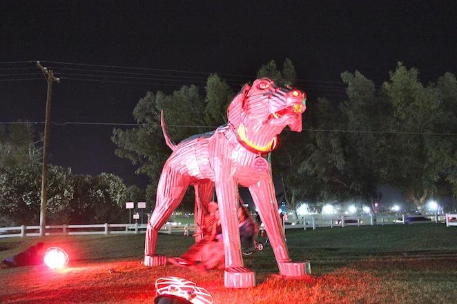 coachella campground art sculpture