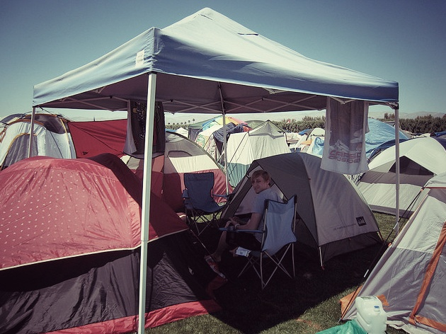 what to bring to coachella? camping shade canopy