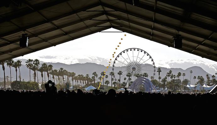 coachella sahara tent view