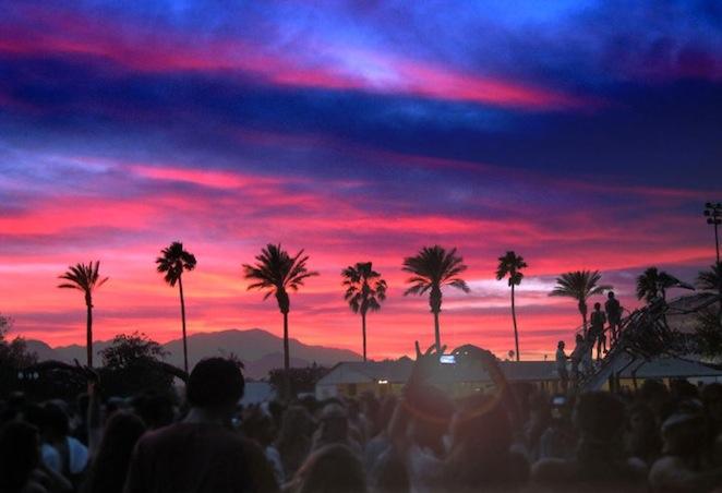 coachella sunset from sahar