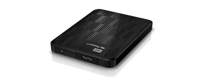 external hard drive present