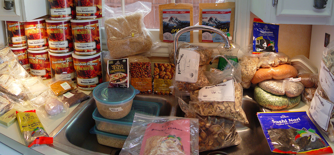 food packing for burning man