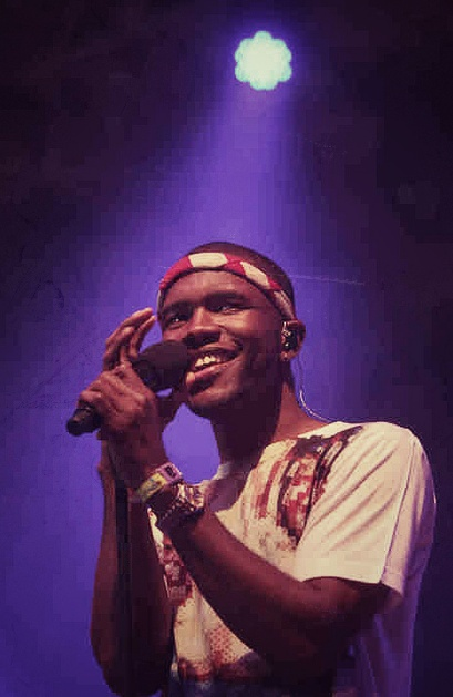 Frank Ocean singing at Coachella 2012 with headband