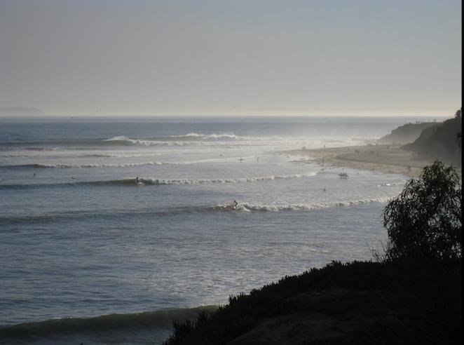 full shot of campus point isla vista