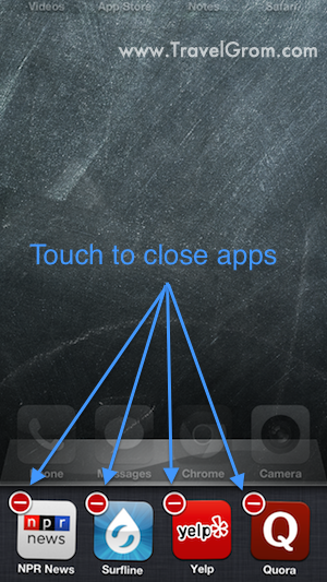 How to close iPhone apps step 2