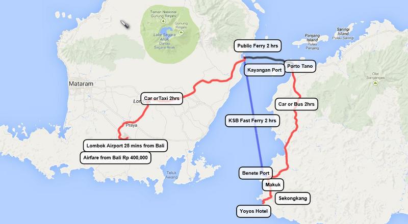 sumbawa surf map