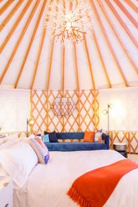 marriott w yurt at Coachella