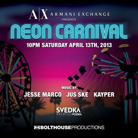 neon carnival coachella 2013 poster