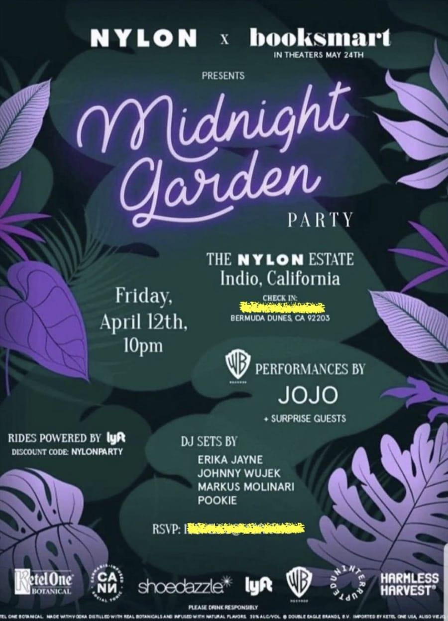 Nylon Midnight Garden