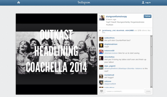 outkast instagram coachella 2014 sleepy brown
