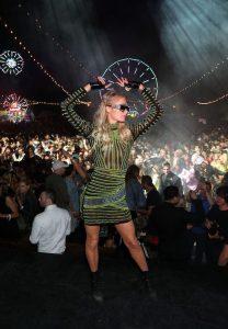 Paris hilton at neon carnival after party