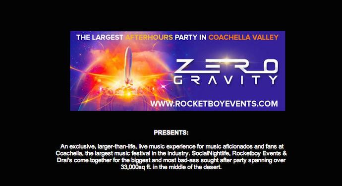 zero gravity party